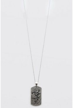 Silver Tag Pendant Necklace