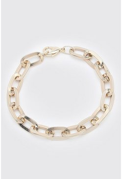 Gold metallic Chunky Chain Bracelet