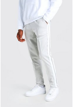 Light grey grey Original MAN Tricot Jogger With Side Tape