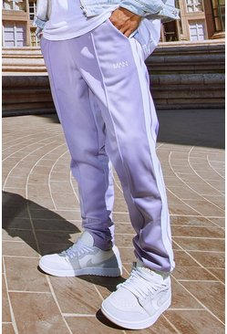 Violet purple Original MAN Tricot Jogger With Side Tape