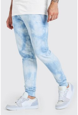Blue Original MAN Regular Fit Tie Dye Jogger