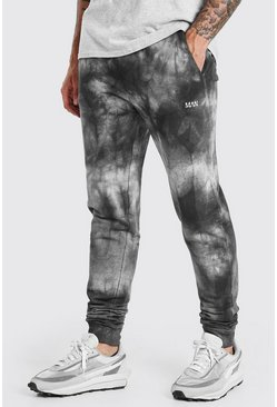 Black Original MAN Regular Fit Tie Dye Jogger
