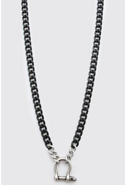 Black Chunky Hardware Chain Necklace