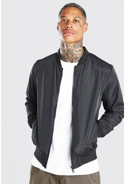 Black MA1 Basic Bomber Jacket