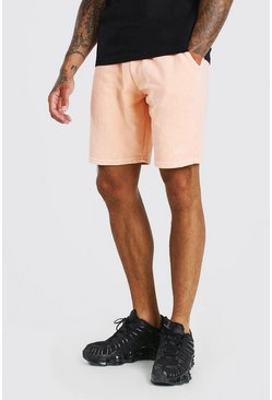Pale orange Original MAN Pigment Wash Jersey Short