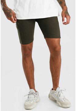 Olive green Basic Mid Length Jersey Short