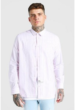 Lilac purple Oversized Poplin Shirt