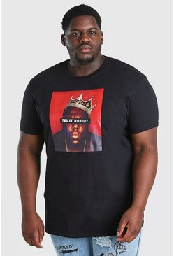 Black Plus Size BIG Trust Nobody License T-Shirt