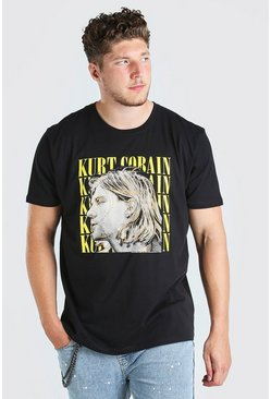 Black Plus Size Kurt Cobain License T-Shirt