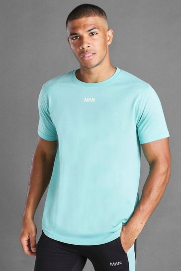 Aqua MAN Basic Curved Hem T-Shirt