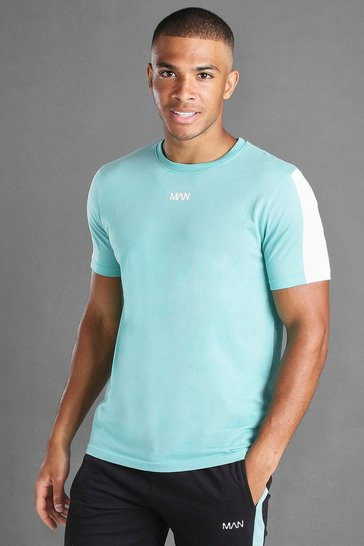 Aqua MAN Short Sleeve T-Shirt With Sleeve Panel