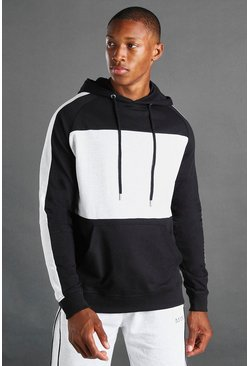 Black MAN Colour Block Hoodie