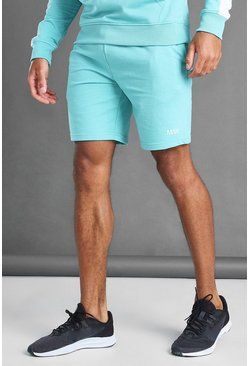 Aqua blue MAN sportbroek