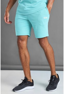 Aqua blue MAN Mid Length Shorts With Contrast Drawcords