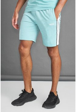 Aqua MAN Mid Length Shorts With Panel And Piping Detail