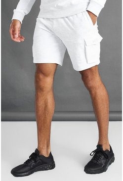 Ecru white MAN Cargo Shorts