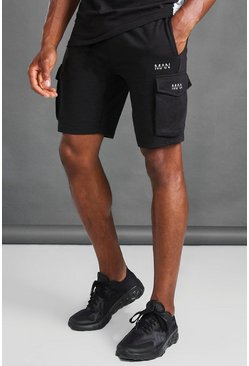 Black MAN Cargo Shorts