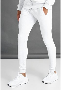 Ecru white Super Skinny Fit Joggers With Side Panel