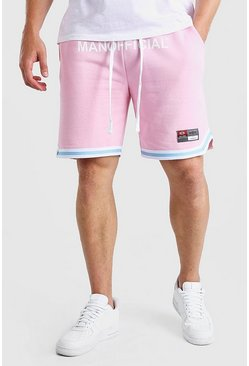 Pink Big And Tall MAN Waistband Short With Tape