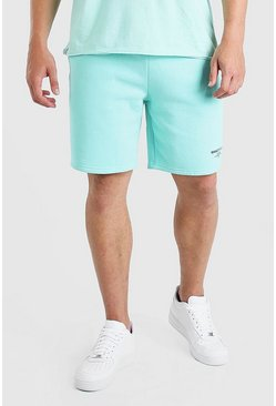 Mint green Big And Tall MAN Double Waistband Jersey Short