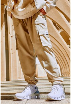 Stone beige Official MAN Shell Cargo Trouser With Bungee Cords