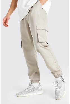 Stone beige Original MAN Shell Jogger With Bungee Cords
