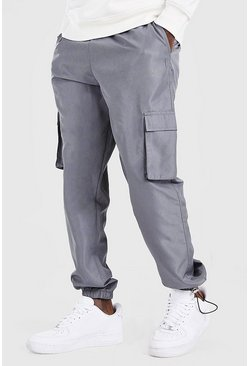 Slate grey Original MAN Shell Jogger With Bungee Cords