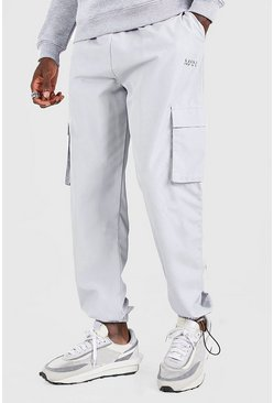 Light grey grey Original MAN Shell Jogger With Bungee Cords