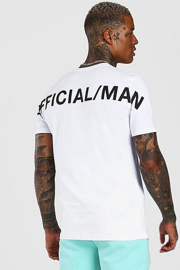 White Official MAN Back Print T-Shirt