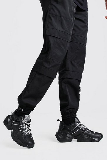 Black MAN Chunky Trainer With Contrast Bungee Laces