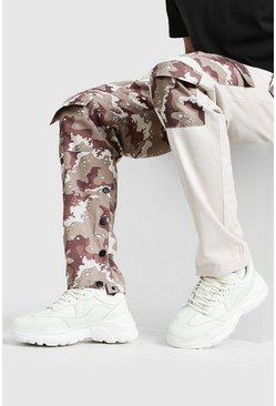 Cream white Man Chunky Sneakers