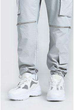White Man Chunky Mesh Sneakers