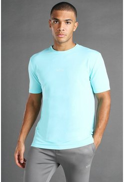 Pale blue blue MAN Active T-Shirt