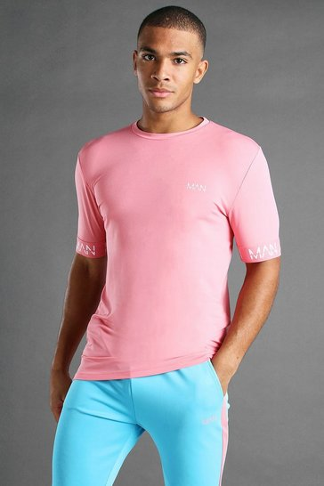 Pink MAN Active Muscle Fit T-Shirt With Cuff Detail