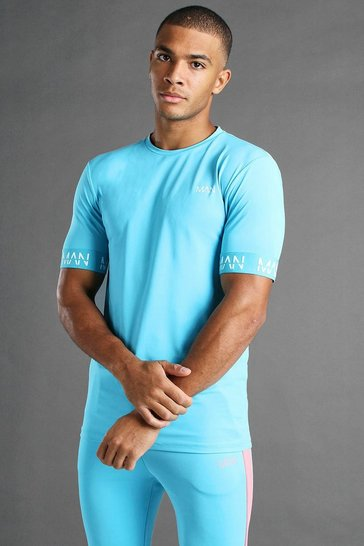 Blue MAN Active Muscle Fit T-Shirt With Cuff Detail