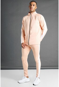 Peach MAN Active Skinny Fit Zip Through Tracksuit