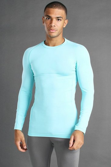 Pale blue MAN Active Long Sleeved Top