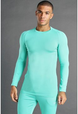 Top de compression MAN Active L/S, Vert