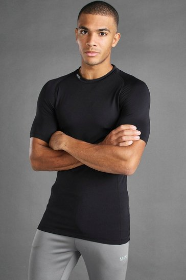 Black MAN Active Short Sleeved Top