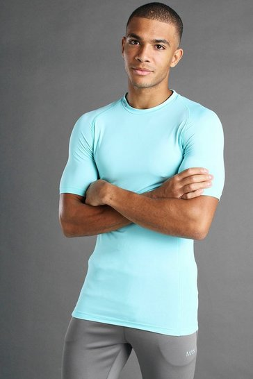 Pale blue MAN Active Short Sleeved Top