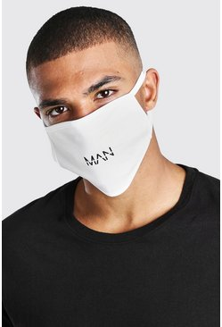 White MAN Dash Reversible Fashion Mask