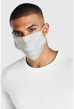 Grey marl MAN Dash Fashion Mask