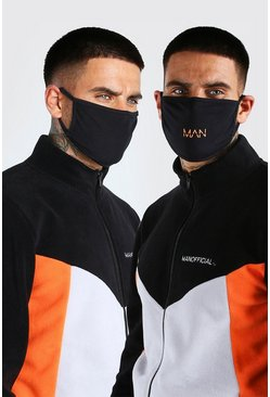 Black 2 Pack Man Dash Fashion Masks
