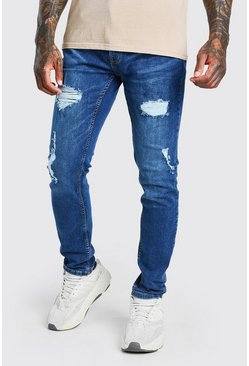 Blue Skinny Fit Jean With Rips