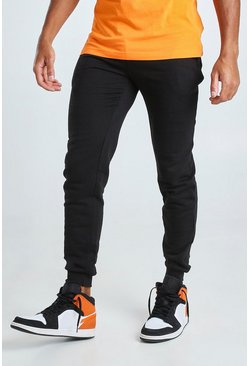 Black Skinny Fit Basic Joggers