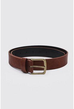 Tan Casual Faux Leather Belt