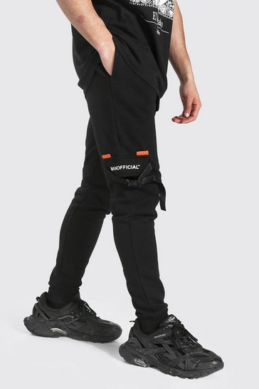 Black Man Official Print Jersey Cargo Joggers