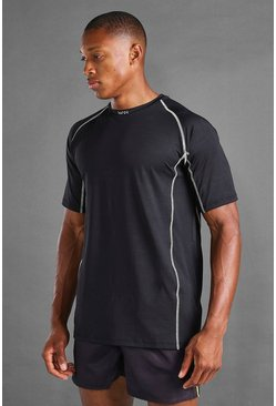 Black MAN Active Elastane Top