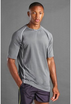 Charcoal grey MAN Active Elastane Top