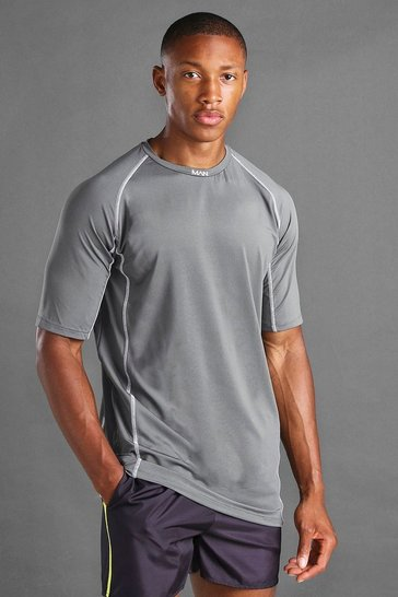 Charcoal MAN Active Elastane Top